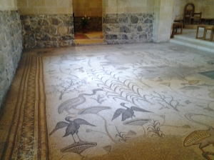 Mosaics of the Church of loaves and fishes