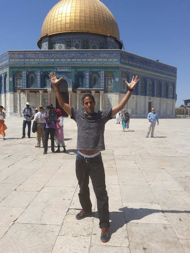 Jon in front of the Dome of the Rock Jerusalem